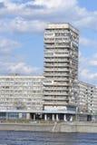 10月堤防在圣彼德堡 库存照片