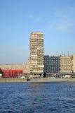 10月堤防在彼得斯堡 库存照片