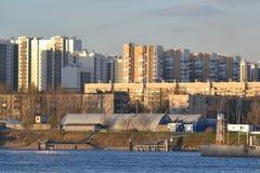10月堤防在彼得斯堡 免版税库存图片