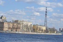 10月堤防在彼得斯堡 图库摄影