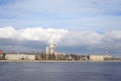 10月堤防在StPetersburg 库存照片