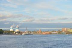 10月堤防,圣彼德堡 库存照片