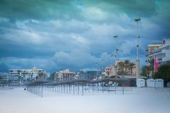 11月天空能Pastilla,马略卡。 库存照片