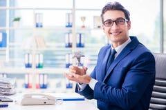 月奖的商人赢取的最佳的雇员 免版税库存图片