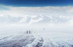 10月山脉在第一个冬日 免版税库存照片