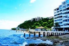 2月底海岛做发埃s海运射击泰国 免版税图库摄影