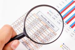 月度净销售量报告 免版税库存照片