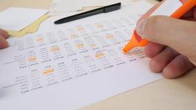 月度票据和费用 影视素材