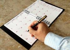 月度计划程序 库存照片