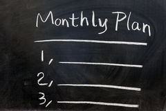 月度计划 免版税库存照片