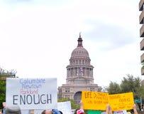 3月我们的生活在奥斯汀,得克萨斯召集 库存图片
