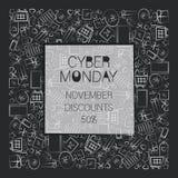 11月折扣 Cyber星期一 免版税库存图片