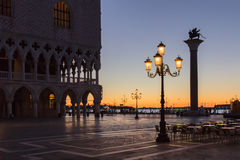11月日出在威尼斯 库存照片