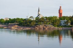6月早晨在汉科,芬兰 库存照片