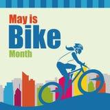5月是自行车月例证 图库摄影