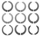 月桂树花圈-胜利和成绩的符号 免版税库存照片