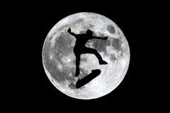 满月溜冰者滑冰 免版税库存图片