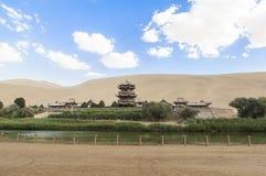 月牙泉在敦煌,中国 免版税库存图片