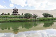 月牙泉在敦煌,中国 库存图片
