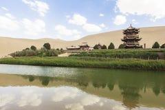 月牙泉在敦煌,中国 免版税图库摄影