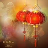 月球农历新年,中国黄道带 为贺卡,日历,飞行物,横幅,海报,邀请设计 免版税库存照片