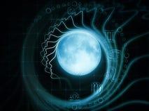 月球吸引力 免版税图库摄影
