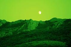 月球的横向 免版税库存图片