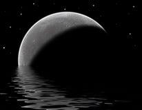 月球的湖 库存例证