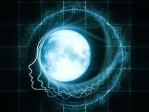 月球黄道带 免版税库存图片