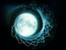 月球黄道带 库存图片