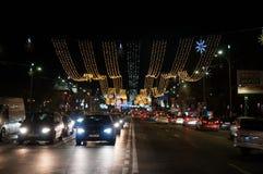 12月的街道闪电 图库摄影