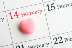 2月的14日心脏 库存图片