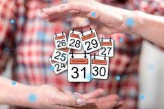 12月的31日概念 免版税库存照片
