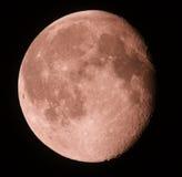 月相在黑暗的天空的。 15.08.11 免版税库存图片