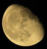 月相在黑暗的天空的。乌克兰,顿涅茨克地区 免版税库存图片