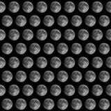 满月看见与望远镜 库存照片