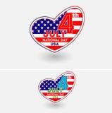 7月第4美国美国独立日 向量例证