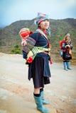 2012年12月第24, Sapa村庄,越南 免版税图库摄影