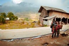 2012年12月第24, Sapa村庄,越南 免版税库存照片