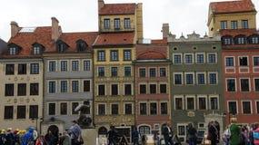 12月老波兰城镇华沙 库存照片