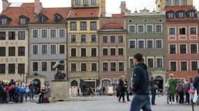 12月老波兰城镇华沙 免版税库存照片