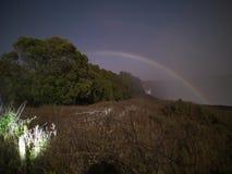 月虹在从津巴布韦边的维多利亚瀑布 免版税库存照片