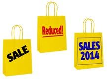1月销售物品袋,顾客 免版税图库摄影