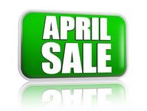 4月销售绿色横幅 免版税库存照片