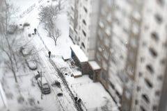 11月降雪 库存照片