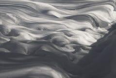 2月雪和随风飘飞的雪特写镜头的纹理 库存照片
