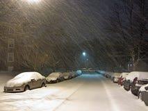 2月飞雪 免版税库存照片