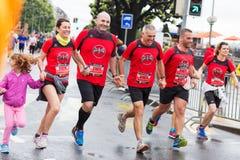 2015年3月,第3 和谐马拉松在日内瓦 瑞士 免版税库存照片