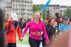 2015年3月,第3 和谐马拉松在日内瓦 瑞士 免版税库存图片
