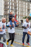 2015年3月,第3 和谐马拉松在日内瓦 瑞士 库存照片